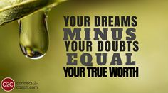 Remove the doubts that are in the way of your dreams by upgrading your mindset to one that's conducive to success and allowing you to find your true potential.