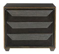 362-230 Quinn Bachelor's Chest | Bernhardt W 36 D 19 H 32 Black Limed Finish Gold Tipping #DarkFinish $2220 #3Foot #Showroom
