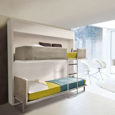 Space Saver - Wall Bunk bed.  Gotta love resource furniture