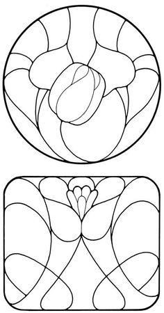 Art Nouveau Stained Glass Pattern Book
