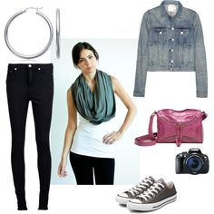 Urban Europe in Spring! perfect travel outfit feat. our chrysalis cardi as a double loop scarf.