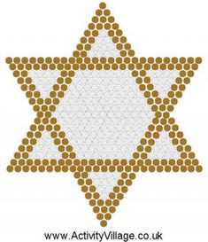 Star of David (Large) Fuse Bead Pattern