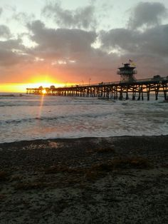 San Clemente pier at sunset - Jan 2013