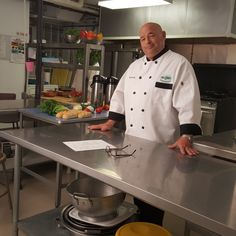 Chef Jim on the set of a TV commercial!