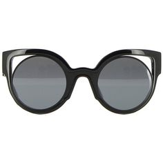 Fendi Paradeyes Sunglasses ($350) ❤ liked on Polyvore featuring accessories, eyewear, sunglasses, glasses, óculos, fendi sunglasses, fendi eyewear, black sunglasses, black glasses and fendi