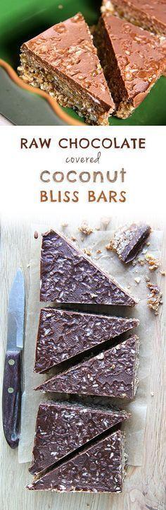 Raw Chocolate Covered Bliss Bars (glutenfree, vegan, dairy free). #kombuchaguru #rawfood Also check out: kombuchaguru.com