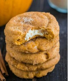 Yum yum pumpkin snicker doodle filled with cream cheese