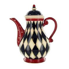 OOOO!!! I bet Agatha Christie wishes she had a teapot like this to feature on the covers of her Harley Quin stories! ;-)