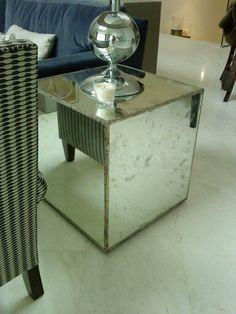 Cubos de espejo centros de mesa pinterest for Espejo envejecido