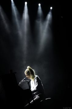 Hannah Reid of London Grammar on stage at Rockhal, Luxembourg - 21st October 2014. Photo credit: Peter Fath