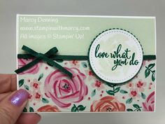 Love What You Do stamp set, Abstract Impressions stamp set, Stampin' Up! www.stampinwithmarcy.com