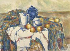Paul Cezanne Still Life With Blue Pot Oil Painting Reproductions for sale Manet, Renoir, Cezanne Still Life, Paul Cezanne Paintings, Art Aquarelle, Watercolour Art, Watercolors, Getty Museum, Oil Painting Reproductions