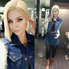 Cosplay-Android 18 from dragon ball