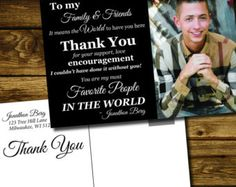 Thank you Graduation Cards, To my family and friends it means the world to me, printable thank you graduation cards, custom with photo - Edit Listing - Etsy