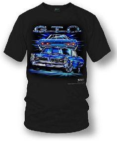 Pontiac-GTO on a new extra large (XL) black tee shirt