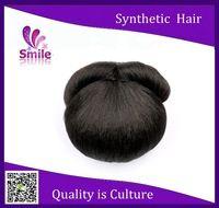 hot sale hair extensions postiche chignon bun braid hairpieces synthetic clip in bun bridal hair piece