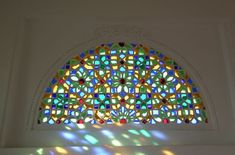 Image result for stained glass cling half round
