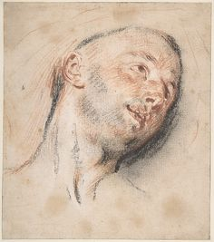 Jean Antoine Watteau - Head of a Man, ca. Red and black chalk; The Metropolitan Museum of Art. Trois Crayons, Life Drawing, Figure Drawing, Gustav Klimt, Jean Antoine Watteau, Art Database, Art Graphique, Elements Of Art, Old Master