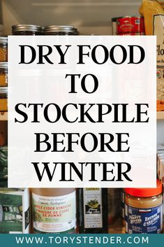 Emergency Preparedness Food Storage, Emergency Food Supply, Disaster Preparedness, Dry Food Storage, Winter Survival, Survival Hacks, Natural Disasters, Prepping, Foods