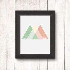 Abstract shape, Minimalist art poster, Geometric print, Nordic design, Modern wall art, Mid century modern Scandinavian print Triangle #009 - pinned by pin4etsy.com