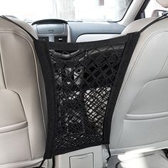 MICTUNING Upgraded 2Layer Universal Car Seat Storage MeshOrganizer  Mesh Cargo Net Hook Pouch Holder for Purse Bag Phone Pets Children Kids Disturb Stopper >>> See this great product.
