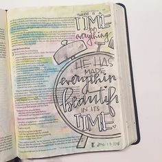 Oh Ecclesiastes 3 Bible Journaling Art. I am so thankful for seasons. Life is so full and beautiful. Cherish it. Find His beauty in everything. My Bible, Bible Art, Scripture Verses, Bible Verses Quotes, Bible Doodling, Bible Drawing, 1 Tattoo, Bible Prayers, Illustrated Faith