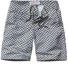 Orlebar Brown tailored board shorts in geometric print