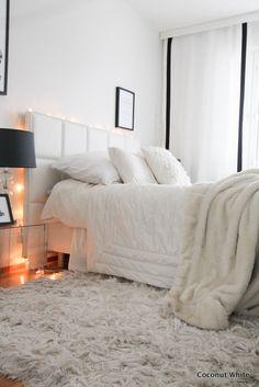 Makuuhuoneen mustavalkoiset verhot | Coconut White