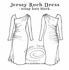well-suited: Pattern Puzzle - Jersey Ruche Dress