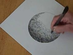 Pen and Ink Shading: A Circle To  A Sphere - Crosshatching