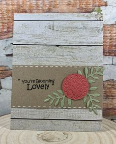 You're Blooming Lovely - card using the Sizzix Flower Cluster Thinlits die set.  Sentiment is from a Which Craft stamp set. #sizzixlifestyle #sizzix #bazzill  www.sharon-curtis.com