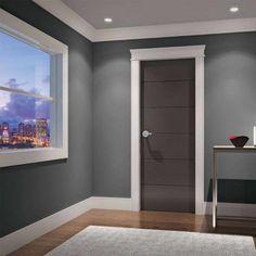 Interior Modern Door Bedroom Design for Home Minimalist - Interior Door Colors, Interior Door Trim, Baseboard Styles, Baseboard Trim, Baseboard Ideas, Baseboard Heaters, Door Molding, Moldings And Trim, Base Moulding