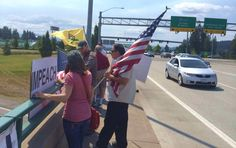 Northern Idaho Protest against illegal immigration July 19, 2014 Pic 2
