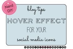 nerd diy hover effects for social media icons