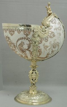 German, Augsburg Nautilus-Shell Cup, c. 1600/1700 (19th-century mounts)