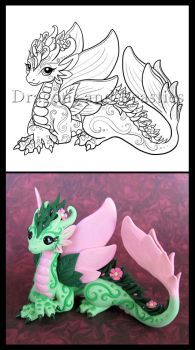 Remember this pretty little dragon from way back? Well I& had this idea for a while to go back and render some of the fan favorites as illustrations for the upcoming coloring book! Coloring Books, Coloring Pages, Cute Dragon Drawing, Dragon Coloring Page, Polymer Clay Dragon, Beautiful Dragon, Dragon Artwork, Modelos 3d, Dragon Pictures