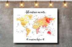 40 years gift 40 years anniversary guest book Map guestbook   Etsy When You Love, 40 Years Old, Guestbook, Anniversary Gifts, Map, Prints, Etsy, Birthday Presents, 40 Rocks