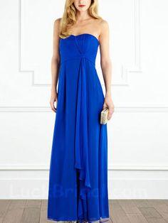 Royal Blue Chiffon Bridesmaid Gown A Line Sweetheart Bridesmaid Dress