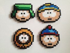 South Park Hama Bead Art Coaster Magnet