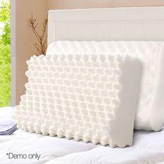 Kimber Natural Latex Pillows Set of 2 - Online Only - White - Matt Blatt Foam Pillows, Bed Pillows, Latex Pillow, Pillow Mattress, Egg Crates, Natural Latex, Dust Mites, Cotton Pillow, Pillow Set