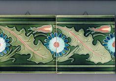 Jugendstil/Art Nouveau Fliesen/Tiles/Tegels/Carreaux Villeroy & Boch, Mettlach