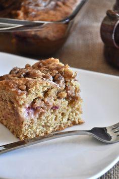 healthy strawberry coffee cake