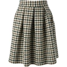 Stella Jean houndstooth pattern midi skirt (7,950 HNL) ❤ liked on Polyvore featuring skirts, bottoms, multicolour, wool skirt, midi skirt, wool midi skirt, print skirt and patterned skirts
