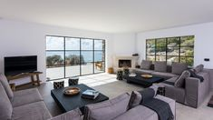 Bespokers - Luxury Beachfront Rental Villa Vanessa in Crete / Bespokers Living Area, Living Room Decor, Living Spaces, Beachfront Rentals, Built In Sofa, Outdoor Barbeque, Spacious Living Room, Maine House, Two Bedroom