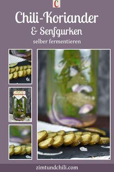 FERMENTIERTE GURKEN - SENF- UND CHILI-KORIANDERGURKENMach dir doch mal fermentierte Gurken. Du kannst auch Gewürze zu deinen Salzgurken dazugeben. So werden sie zu Gewürzgurken wie in meinem Rezept für Senfgurken oder Chili-Koriandergurken. Gurken milchsauer einzulegen bzw. zu fermentieren ist gesund und lecker. #fermentierteGurken #Senfgurkeneinlegen #Gewürzgurkeneinlegen #milchsauresGemüse #FermentationRezepte #DarmgesundheitRezepte #DarmfloraLebensmittel #Gurkenhaltbarmachen…