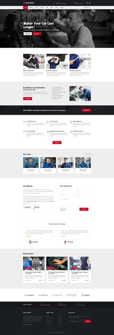 Autopoint - Mechanic Auto Repairs PSD Template #mechanic #pest control #services template • Download ➝ https://themeforest.net/item/autopoint-mechanic-auto-repairs-psd-template/19510308?ref=pxcr