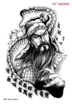 Guan Yu, Buddha Tattoos, Tattoo Design Book, Japanese Tatto, Los Primates, Koi Dragon, Dragon Tattoos For Men, Mask Tattoo, Japan Tattoo