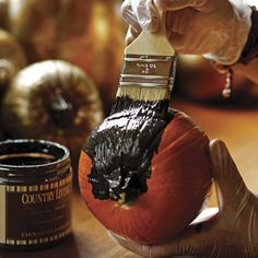 How to Gild Pumpkins
