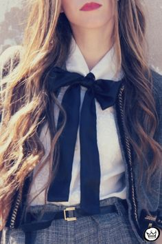 black ribbon bow tie