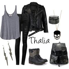I am so like like thalia I ware this kind of stuff all the time and I am like punk girl at school GO pinecone face